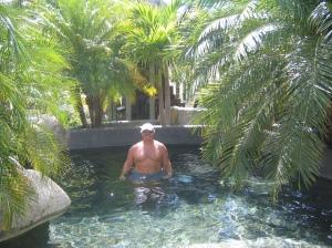 Pirate in the pool at Jimbo's