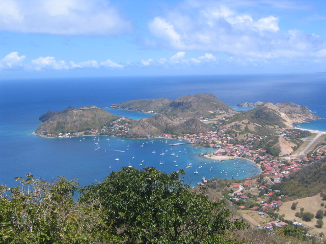 Iles des Saintes as seen from atop Fort Chameau