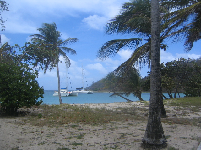 At anchor in Mayreau