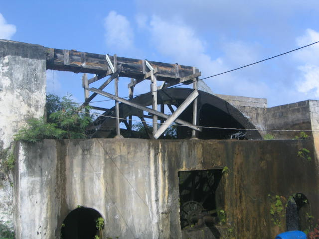 Oldest working water wheel at Rivers Antoine Rum Estate