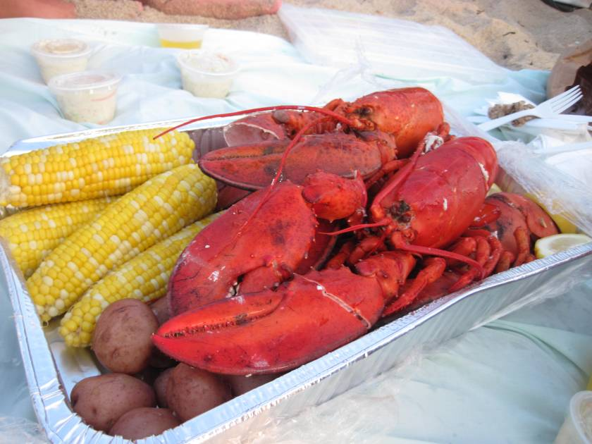 A Lobster Picnic on the Beach in Nantucket