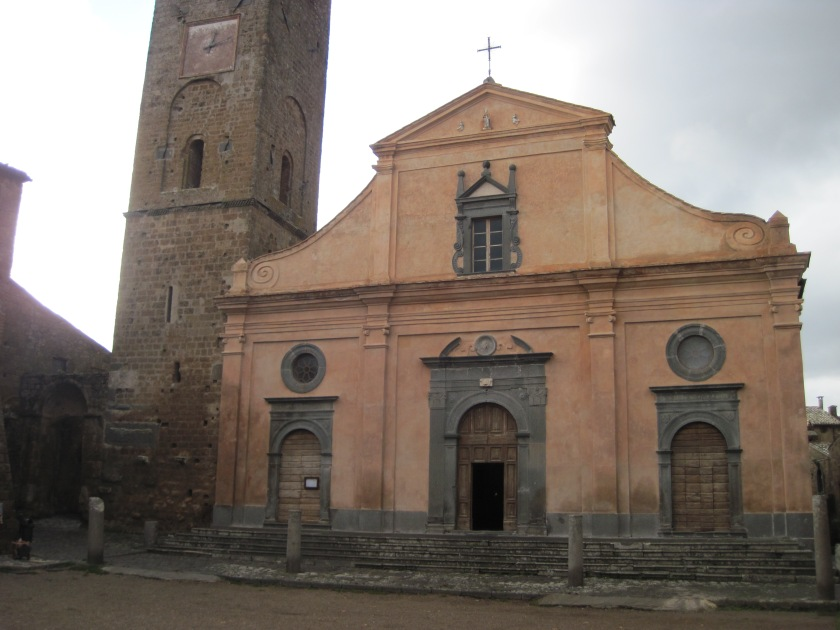 Cathedral in center of Civita