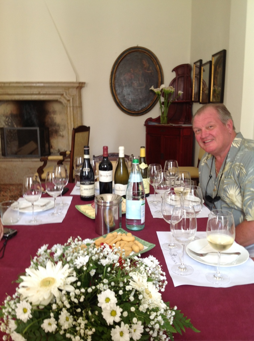 Tasting at Bertani estate