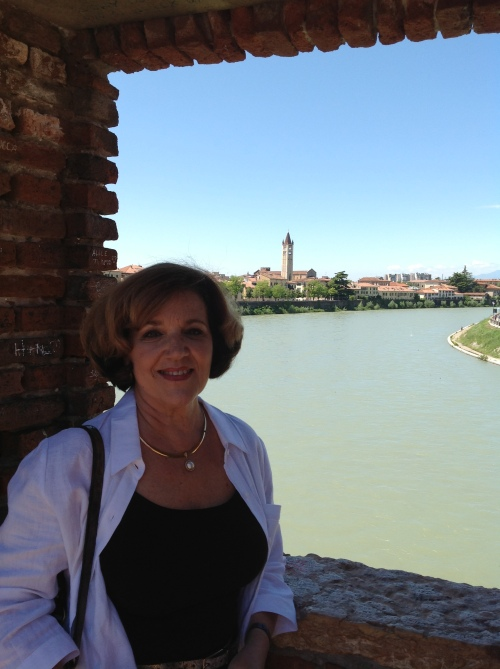 Karyn on the Adige River
