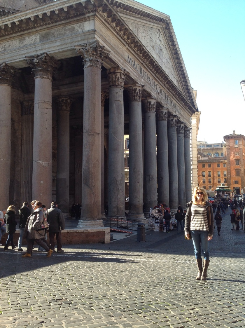 Cajun in front of Pantheon..