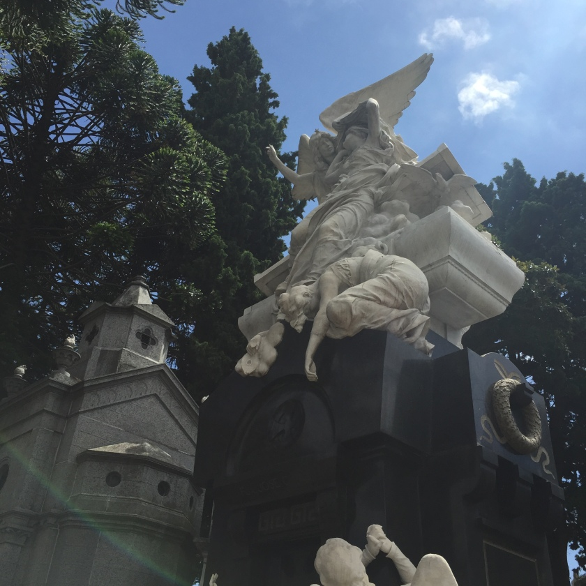 Angels on a grave