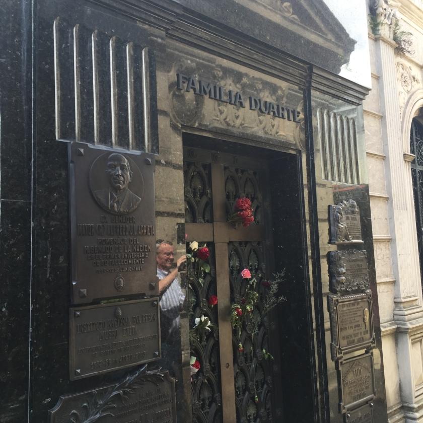 Eve Peron Grave