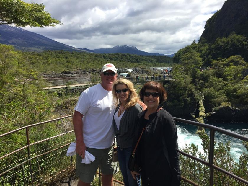 The gang at Petrohue Falls