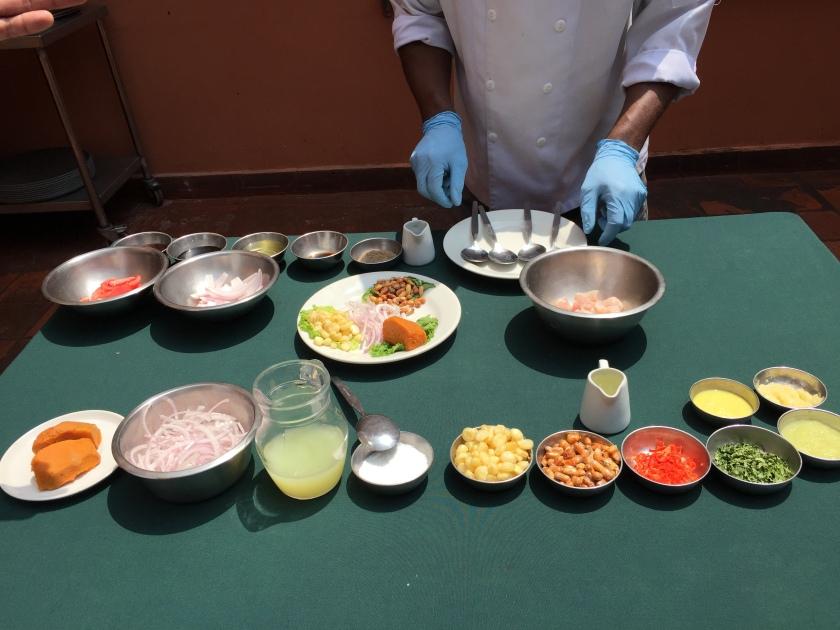 Making Ceviche in Lima