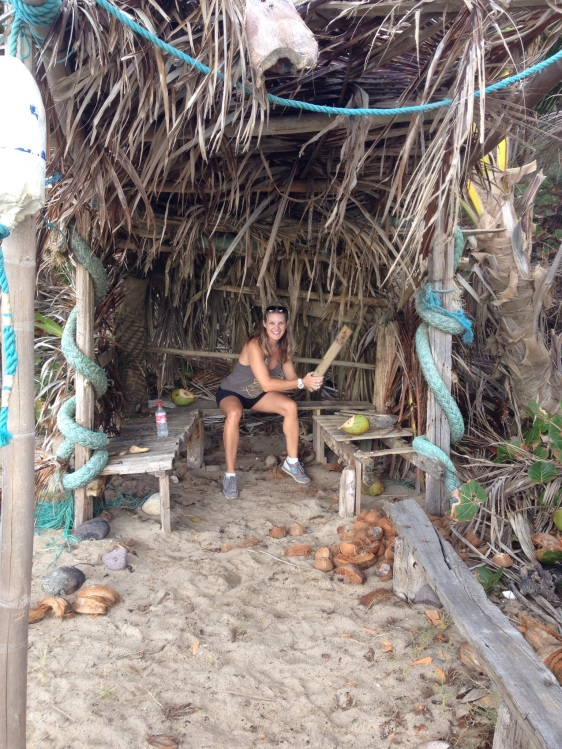 Coconut shack in Hope Bay
